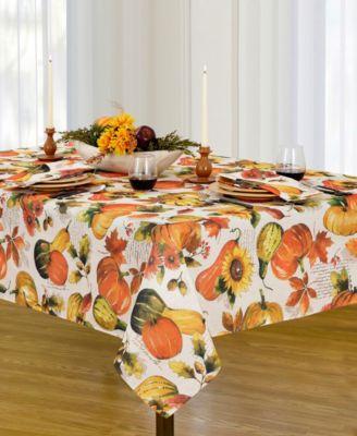 Grateful Season Fall Printed Tablecloth, 52