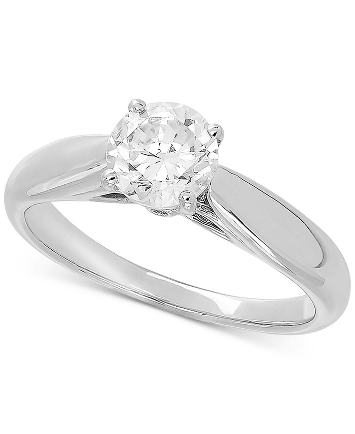 Grown With Love - Lab Grown Diamond Solitaire Engagement Ring (1 ct. t.w.) in 14k White Gold