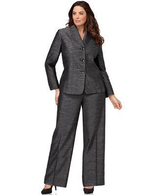 Le Suit Plus Size Suit Long Sleeve Pleated Jacket Amp Wide