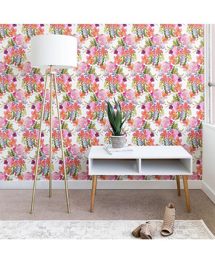 Deny Designs - Ninola Design Flowers Sweet Bloom Pink Wallpaper