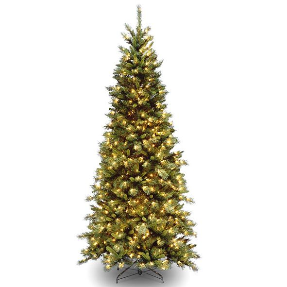 National Tree Company National Tree 6 .5' Tiffany Fir Slim Tree with 400 Clear Lights