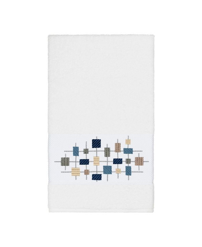 Linum Home - Khloe Embroidered Turkish Cotton Bath Towel