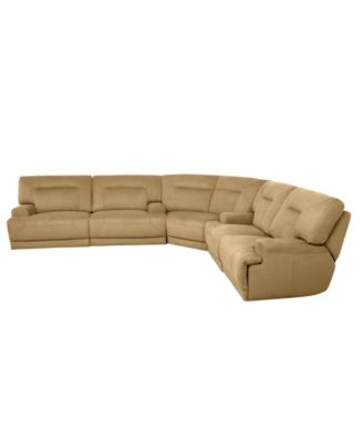 Jedd Fabric Reclining Sectional Sofa, 6 Piece Power Recliner (2 ...