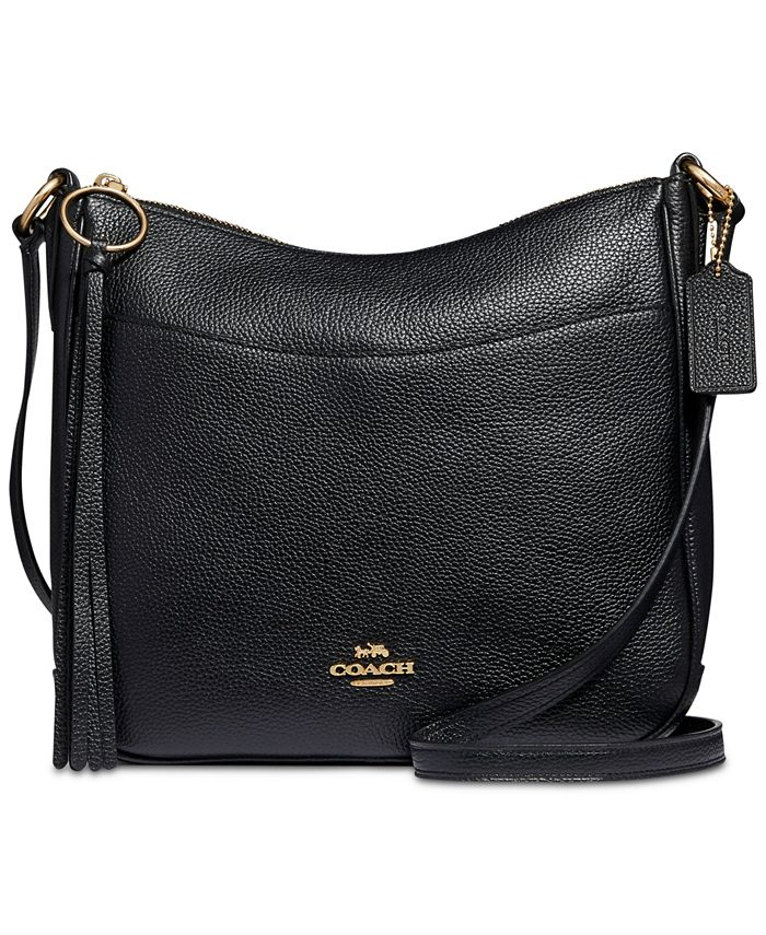 COACH - Polished Pebble Leather Chaise Crossbody
