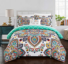 Chic Home Karen 4 Pc King Duvet Cover Set