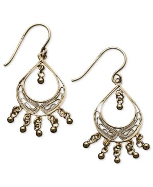 Giani Bernini 24k Gold over Sterling Silver Earrings, Filigree Drop