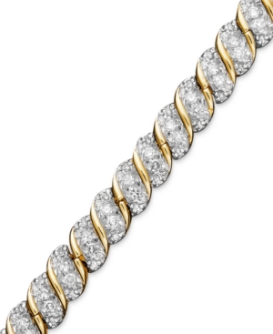 10k Gold Bracelet, Diamond Twist Bracelet (1-1/2 ct. t.w.)