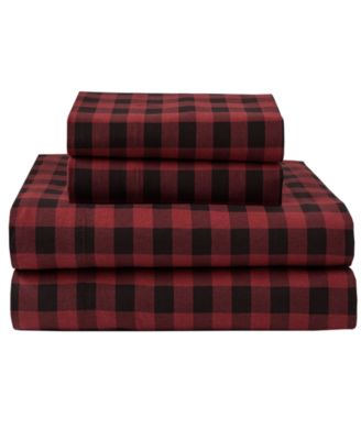 Winter Nights Cotton Flannel Twin Sheet Set