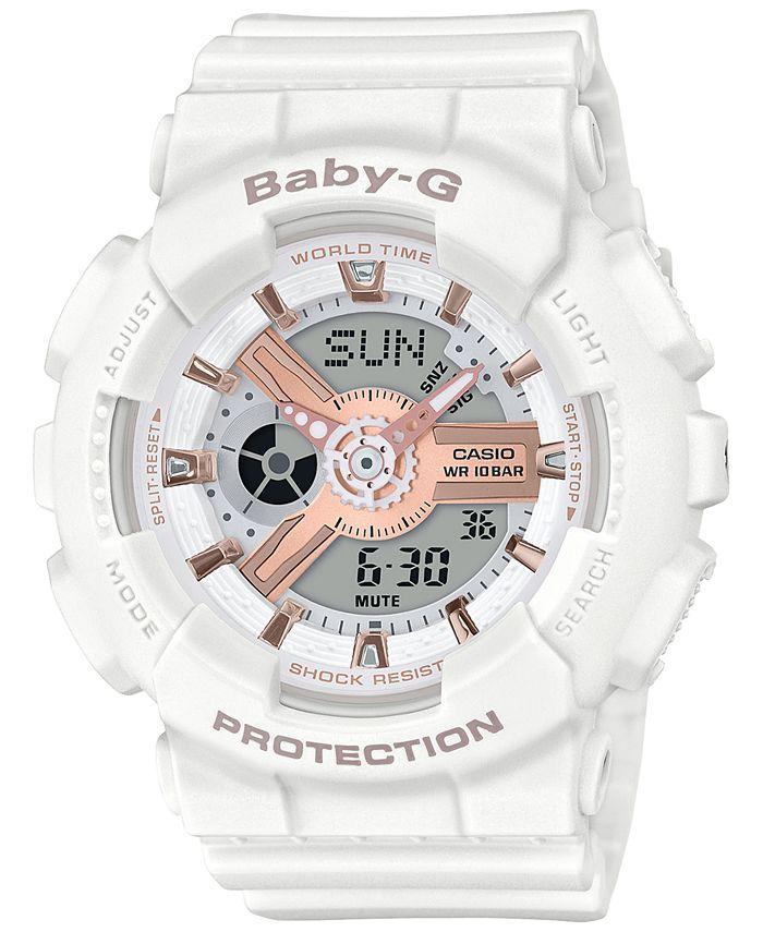 G-Shock - Women's Analog-Digital White Resin Strap Watch 43.4mm