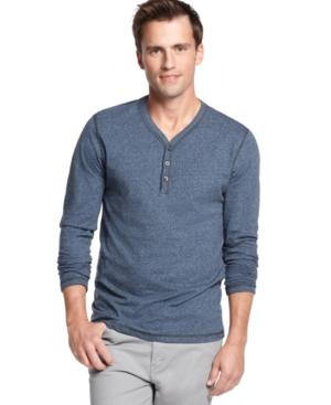 Alfani Shirt, Y Neck Henley Shirt