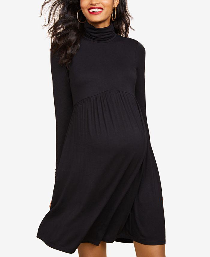 Motherhood Maternity - Maternity Turtleneck Dress