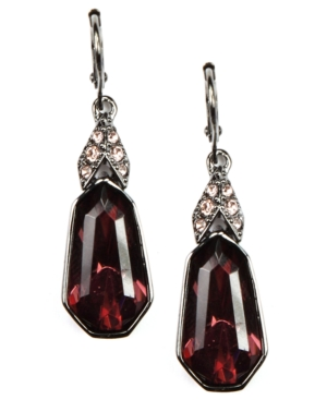 Givenchy Earrings, Vintage Rose Glass Accent Drop Earrings
