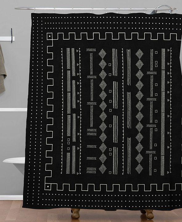 Deny Designs Iveta Abolina Mud Cloth Inspo V Shower Curtain