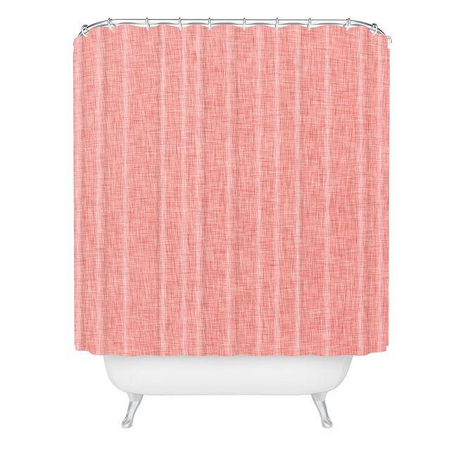 Deny Designs Holli Zollinger Linen Marsala Light Shower Curtain