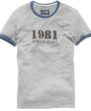 Armani Jeans Shirt, Melange Jersey T Shirt