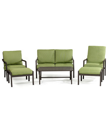madison outdoor 6 piece seating set loveseat club chair