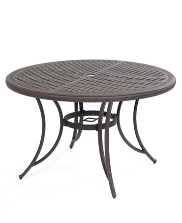 Aluminum 48 Round Outdoor Dining Table Furniture Macy 39 S