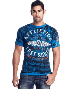 Affliction T Shirt, Reversible Bulk Head Graphic Tee