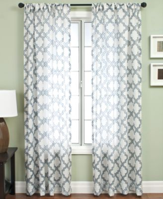 "Softline Sheer Samara Burnout 55"" x 95"" Panel"