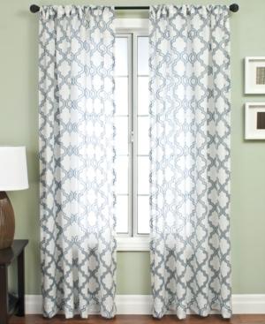 "softline window treatments, samara burnout 55"" x 120"" panel bedding"