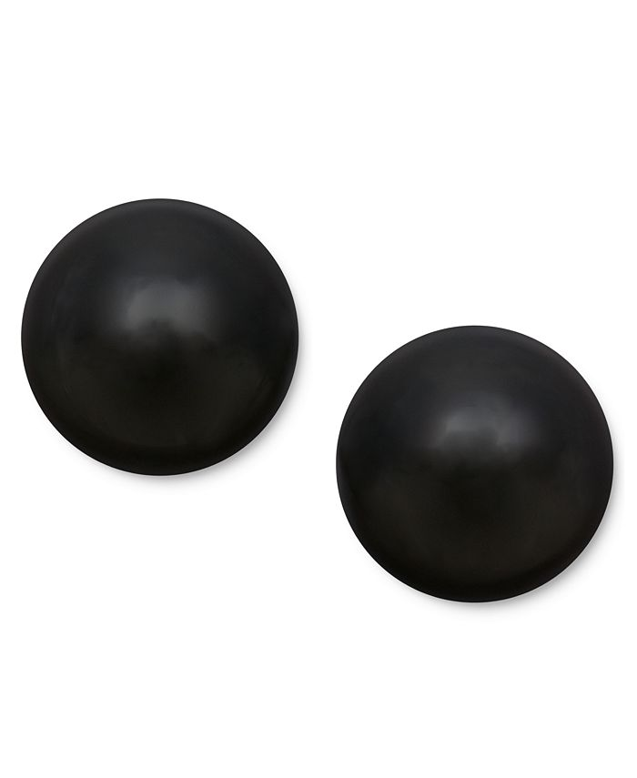 Macy's - 14k Gold Earrings, Onyx Ball Stud Earrings (8mm)
