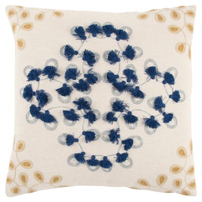 """20"""" x 20"""" Floral Poly Filled Pillow"""