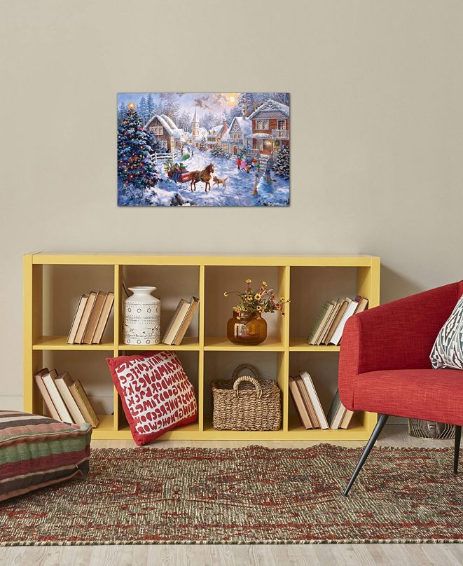 """iCanvas """"Merry Christmas"""" by Nicky Boehme Gallery-Wrapped Canvas Print"""
