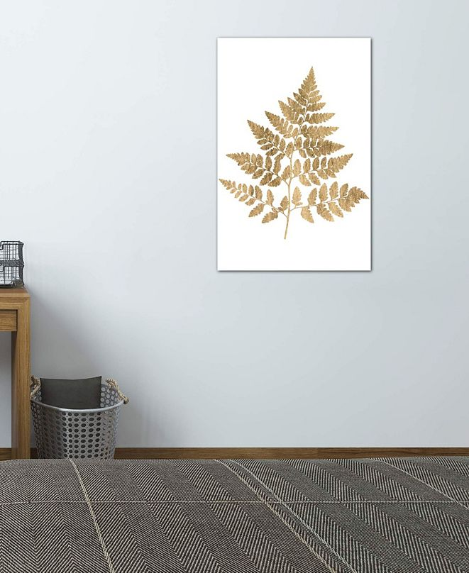 "iCanvas ""Graphic Gold Fern I"" by Studio W Gallery-Wrapped Canvas Print (26 x 18 x 0.75)"