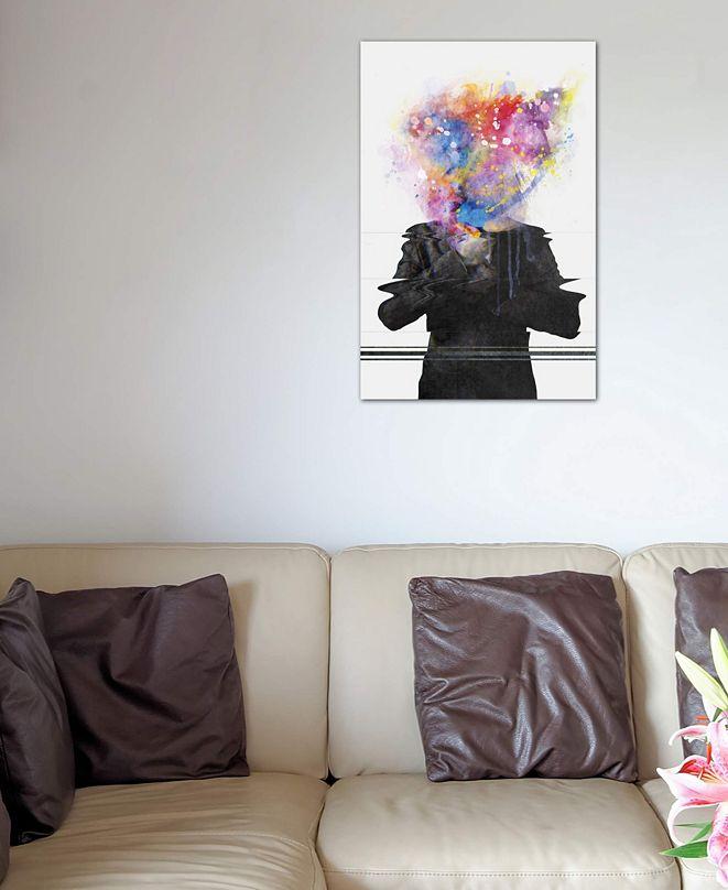 """iCanvas """"Glitch Mob"""" by DÃániel Taylor Gallery-Wrapped Canvas Print (40 x 26 x 0.75)"""