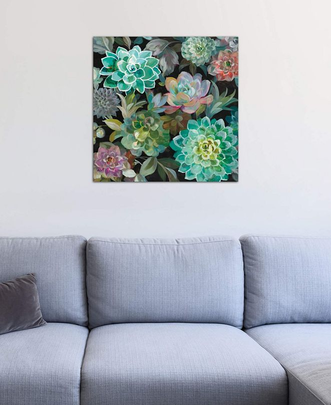 "iCanvas ""Floral Succulents In Zoom"" by Danhui Nai Gallery-Wrapped Canvas Print (18 x 18 x 0.75)"