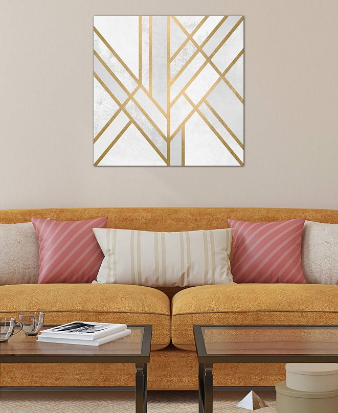 "iCanvas ""Art Deco Geometry II"" by Elisabeth Fredriksson Gallery-Wrapped Canvas Print (18 x 18 x 0.75)"