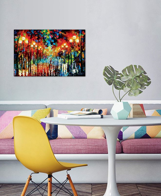 "iCanvas ""A Date With The Rain"" by Leonid Afremov Gallery-Wrapped Canvas Print (26 x 40 x 0.75)"
