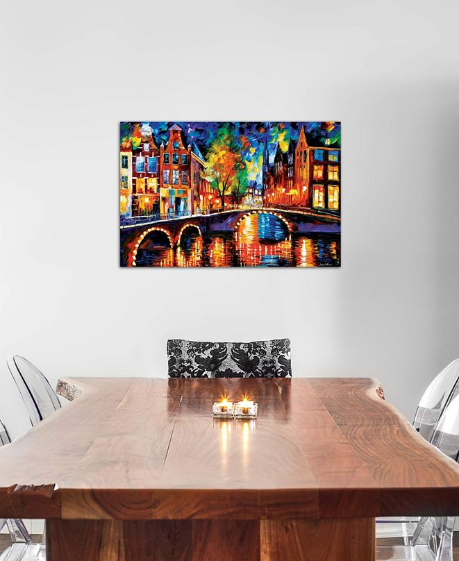 "iCanvas ""The Bridges Of Amsterdam"" by Leonid Afremov Gallery-Wrapped Canvas Print (26 x 40 x 0.75)"