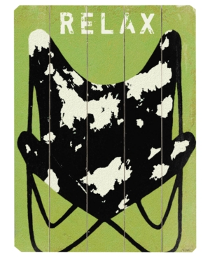 ArteHouse Wall Art, Relax Wooden Sign by Lisa Weedn Small