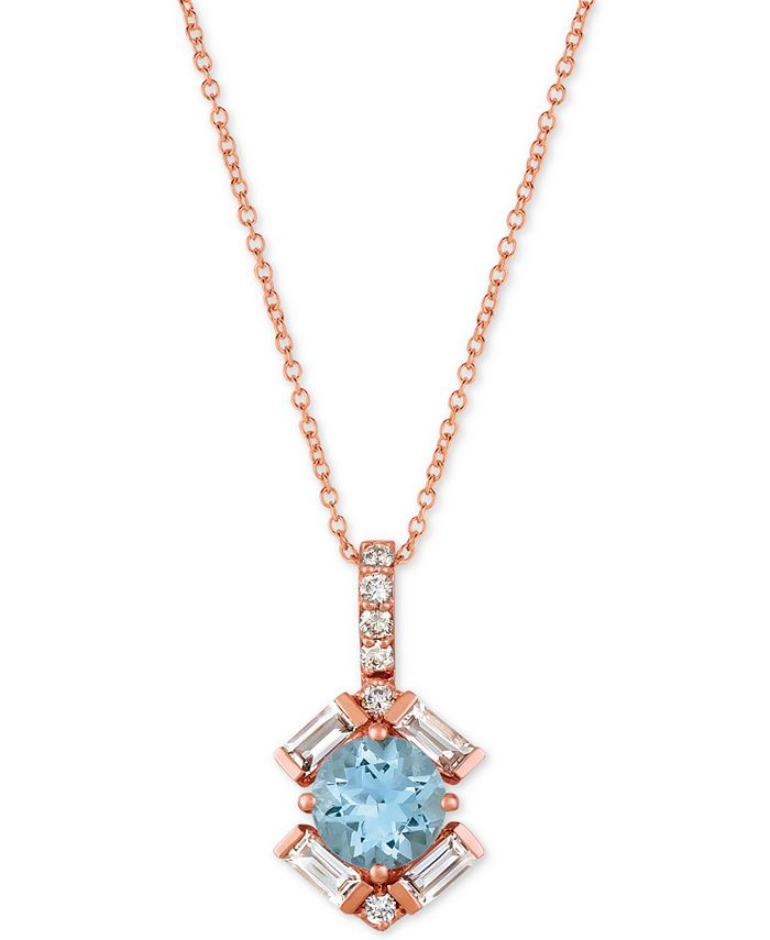 "Le Vian - Multi-Gemstone 20"" Pendant Necklace (1-1/3 ct. t.w.) in 14k Rose gold"