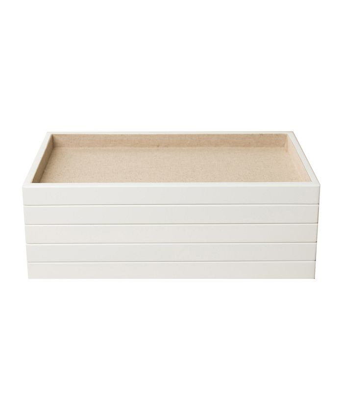 Hives & Honey - 5-Piece Stackable Trays, White