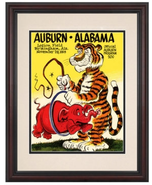 Mounted Memories Wall Art, Framed Auburn vs Alabama Football Program Cover 1959