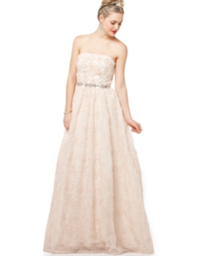 Adrianna Papell Dress, Strapless Beaded Ball Gown