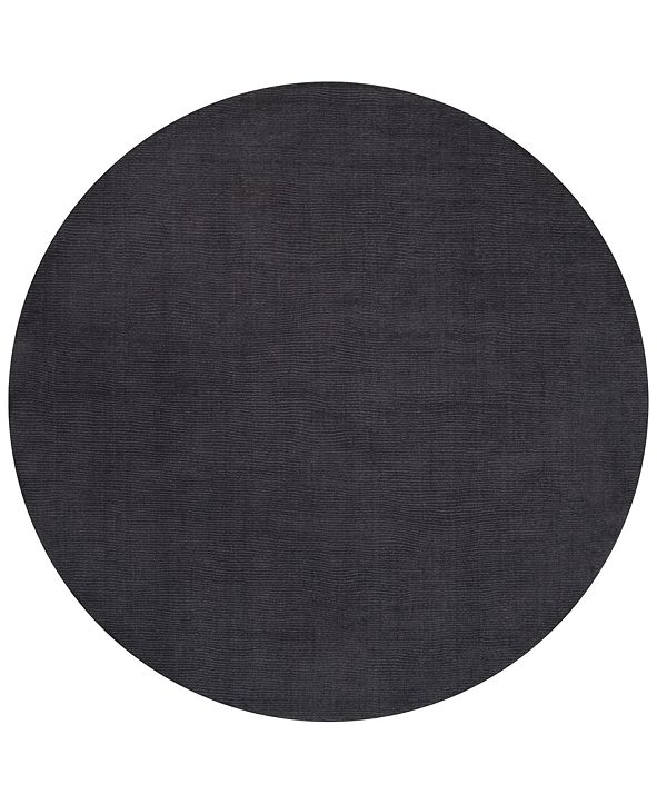 Surya Mystique M-341 Charcoal 6' Round Area Rug
