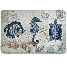 Laural Home Seaside Postcard Memory Foam Rug