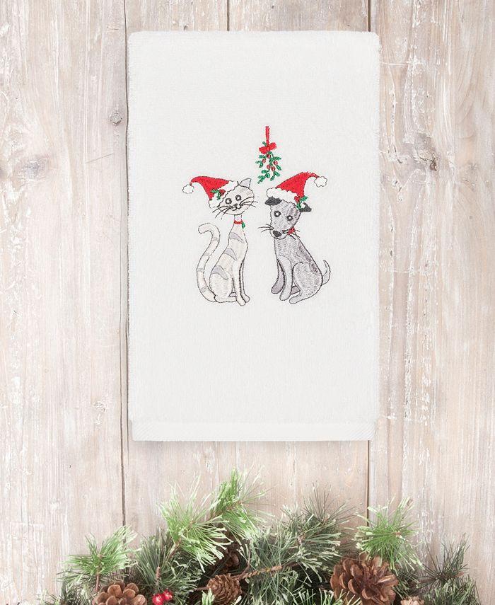 Linum Home - Christmas Cute Couple 100% Turkish Cotton Hand Towel