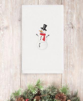 CLOSEOUT!  Snowman 100% Turkish Cotton Hand Towel