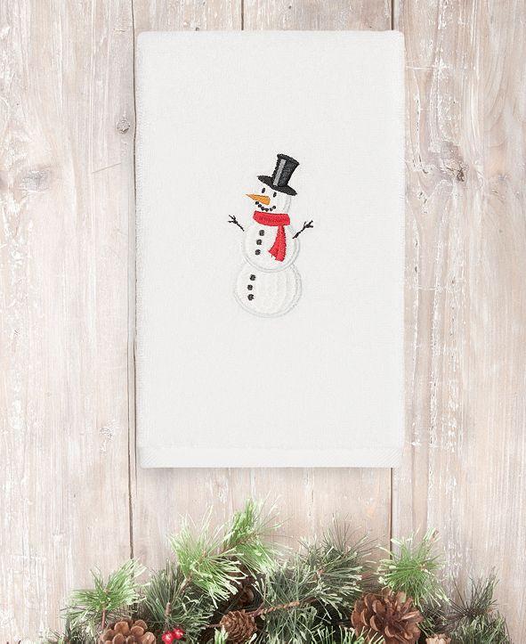 Linum Home CLOSEOUT!  Snowman 100% Turkish Cotton Hand Towel