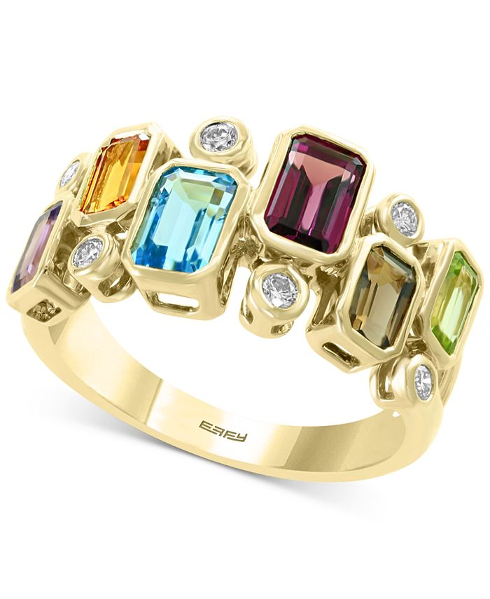 EFFY Collection - Multi-Gemstone (2-3/8 ct .t.w.) & Diamond (x ct. t.w.) Ring in 14k Gold