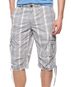 American Rag Short, Plaid Messenger Shorts