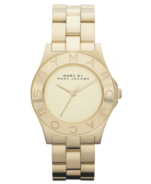 Marc by Marc Jacobs Watch, Women's Gold Ion Plated Stainless Steel Bracelet 37mm MBM3126