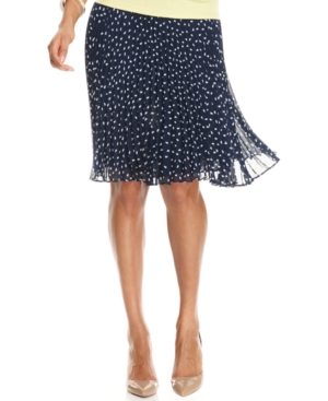 Charter Club Skirt, Pleated Printed A-Line