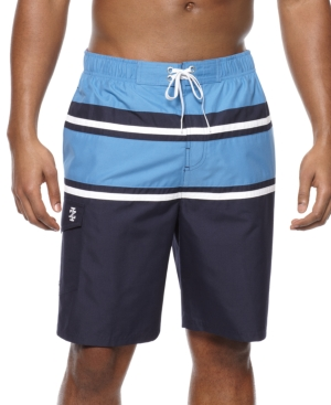 Izod Swimwear, Notion Stripe Swim Trunks