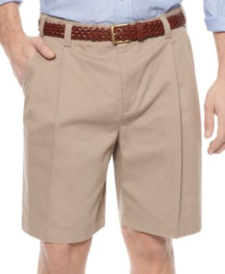 Image of Geoffrey Beene Extender Waist Double Pleat Shorts