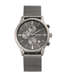 Breed Quartz Espinosa Chronograph Gunmetal And Black Alloy Watches 42mm